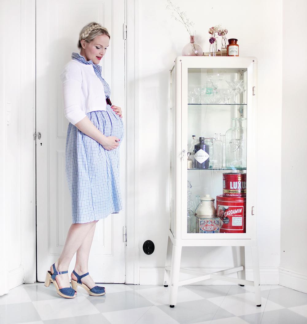 gravid gravidkläder gravidklänning klänning vintage gravidmage vecka 27