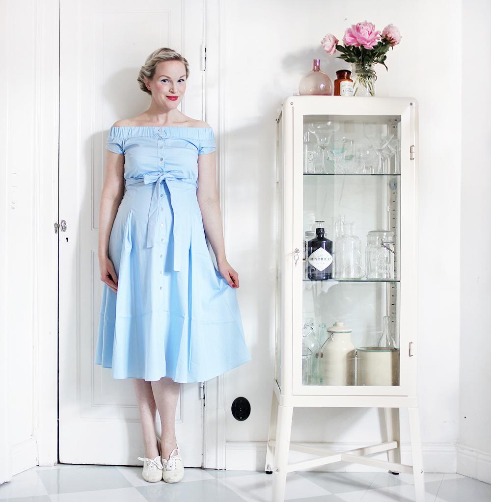 gravid gravidklänning asos vintage pioner dress vintage pregnant