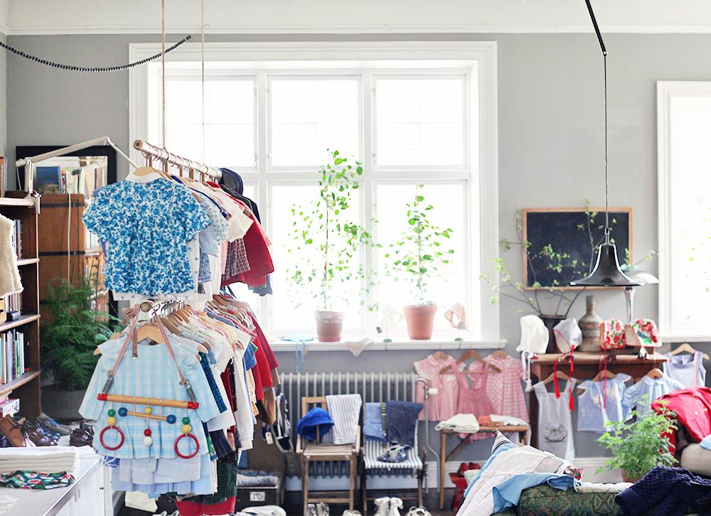 fluga barnvintage barnkläder vintage inredning