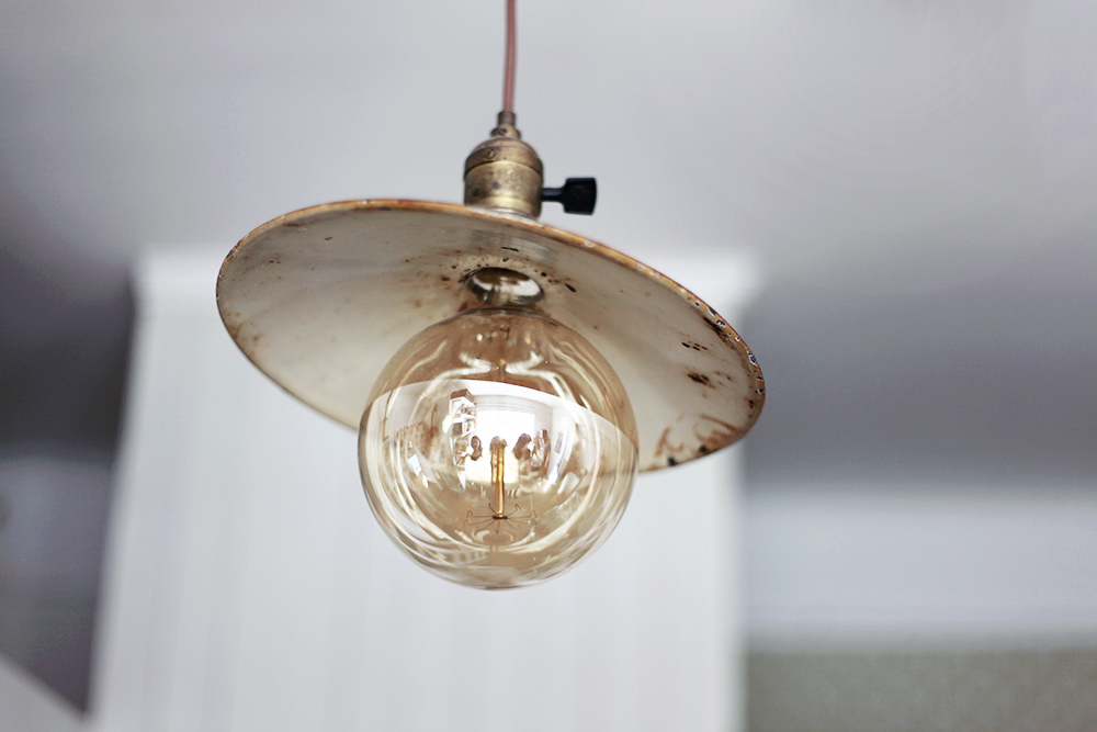 lampa vintage inredning