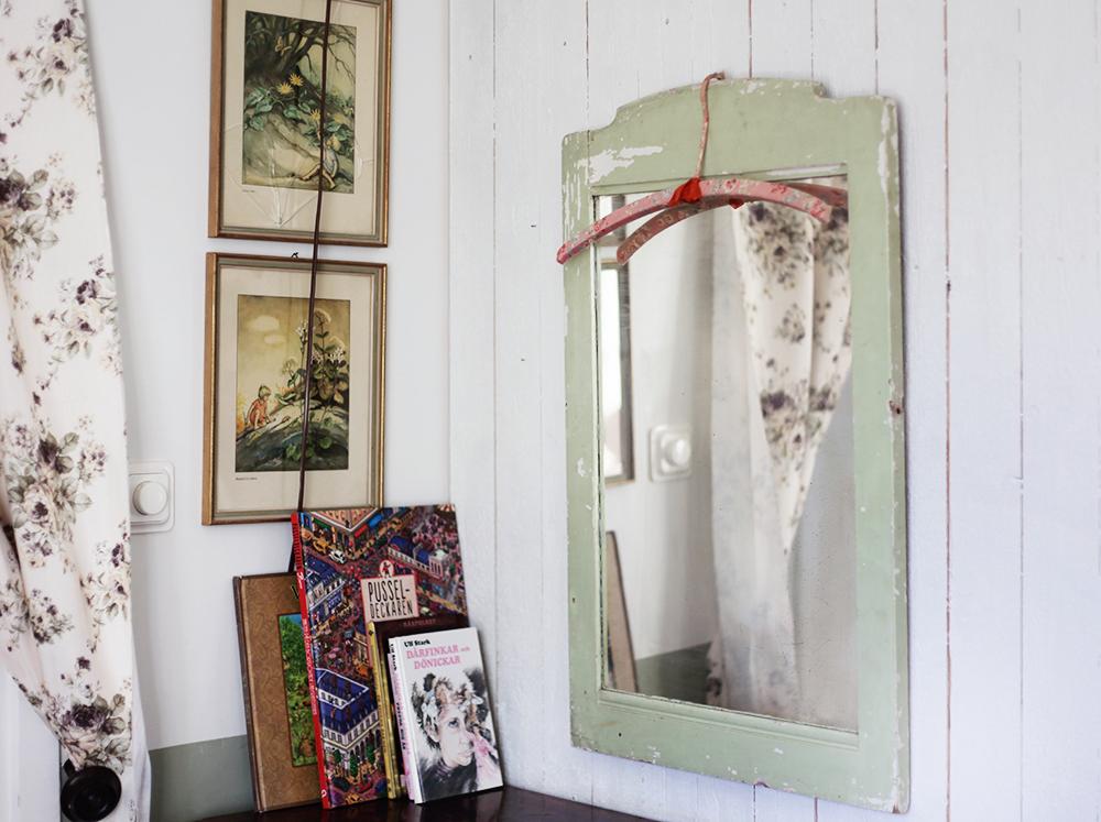 barnrum vintage inredning spegel