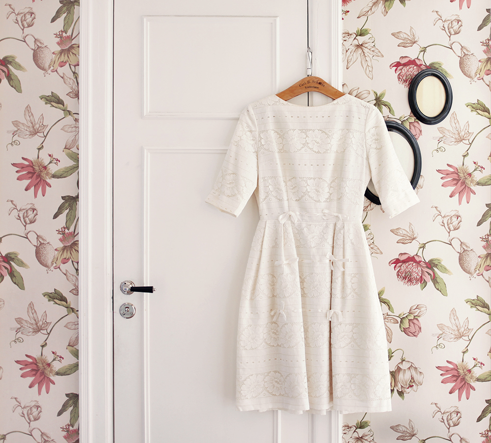 vintage dress wedding white