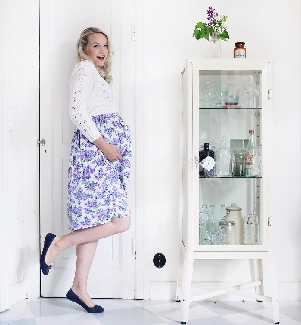 gravid vecka 34 pregnant maternity clothes ballerinaskor klänning