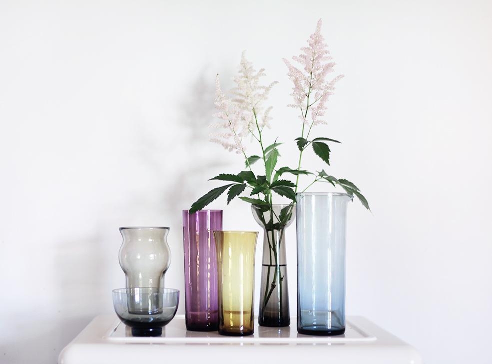 vaser inredning vintage