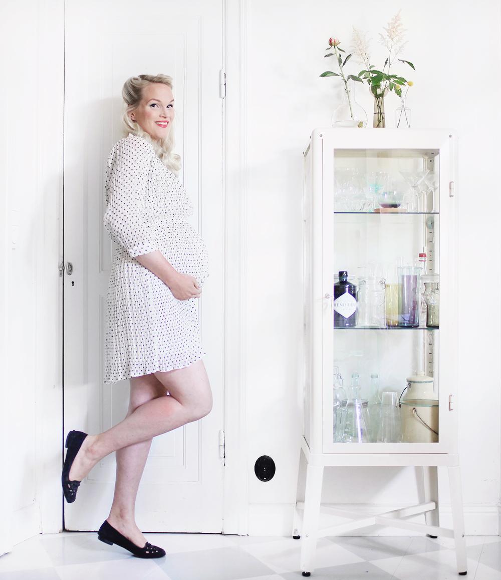 gravidmage vecka 35 gravidkläder H&M