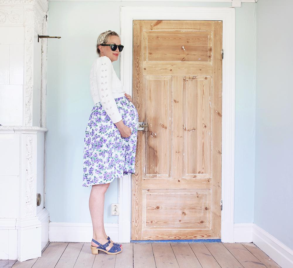 gravid vecka 41 pregnant maternity dress vintage