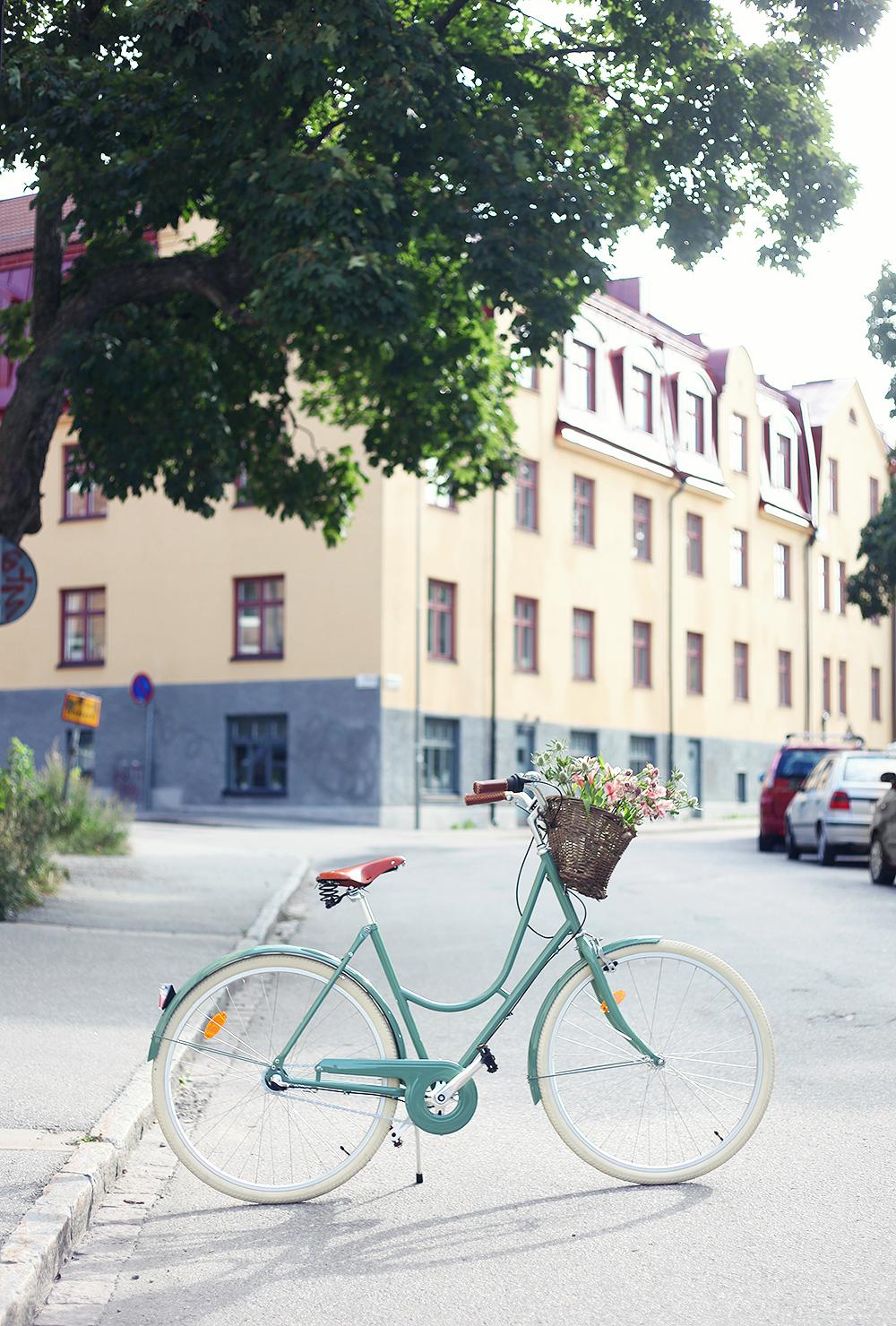 stålhästen cykel grön