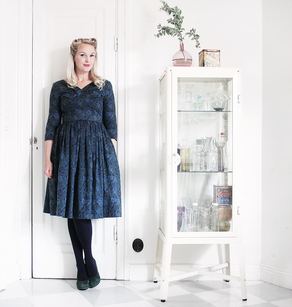 bonjour jumperfabriken klänning blommig
