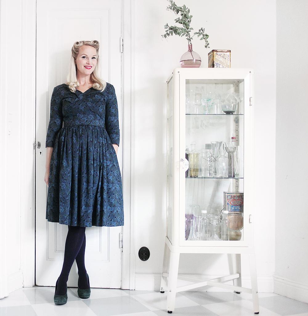 jumperfabriken klänning bonjour vintage blommig
