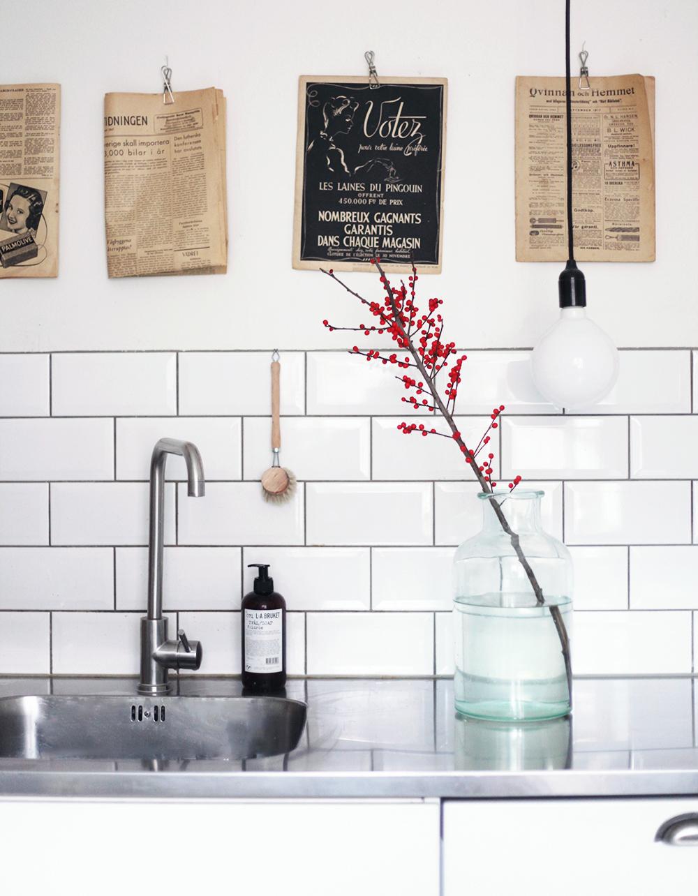 kök inredning posters tidningar vintage