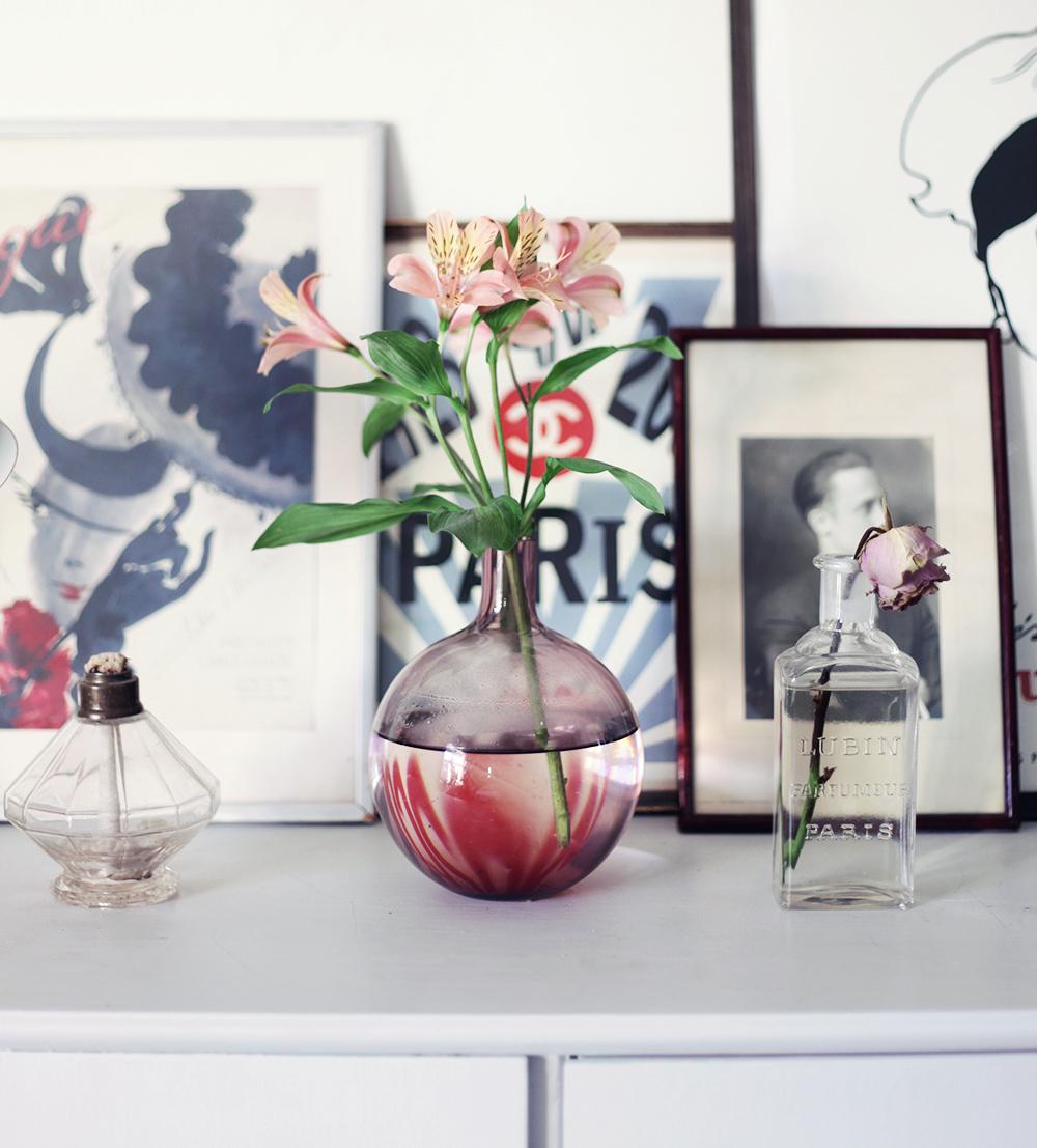 blommor vintage inredning