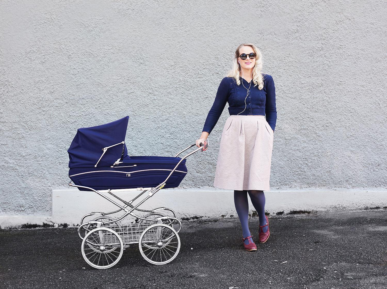 barnvagn retro vintage stockholm midsommarkransen