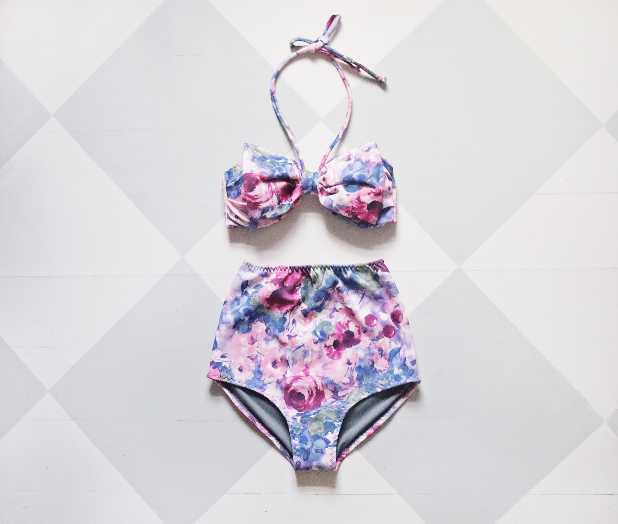 bikini badkläder hög midja
