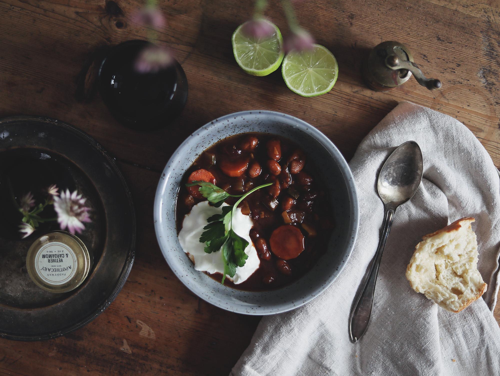 vegetariskt recept gryta