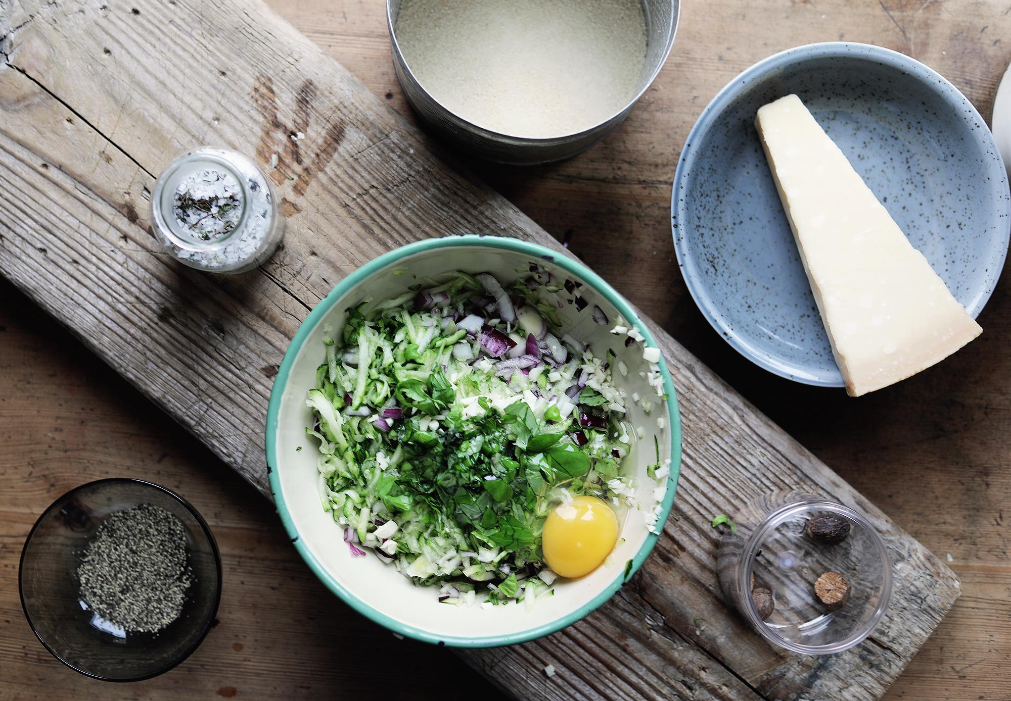 vegetariska biffar squashbiff vegetariskt recept lättlagat enkelt