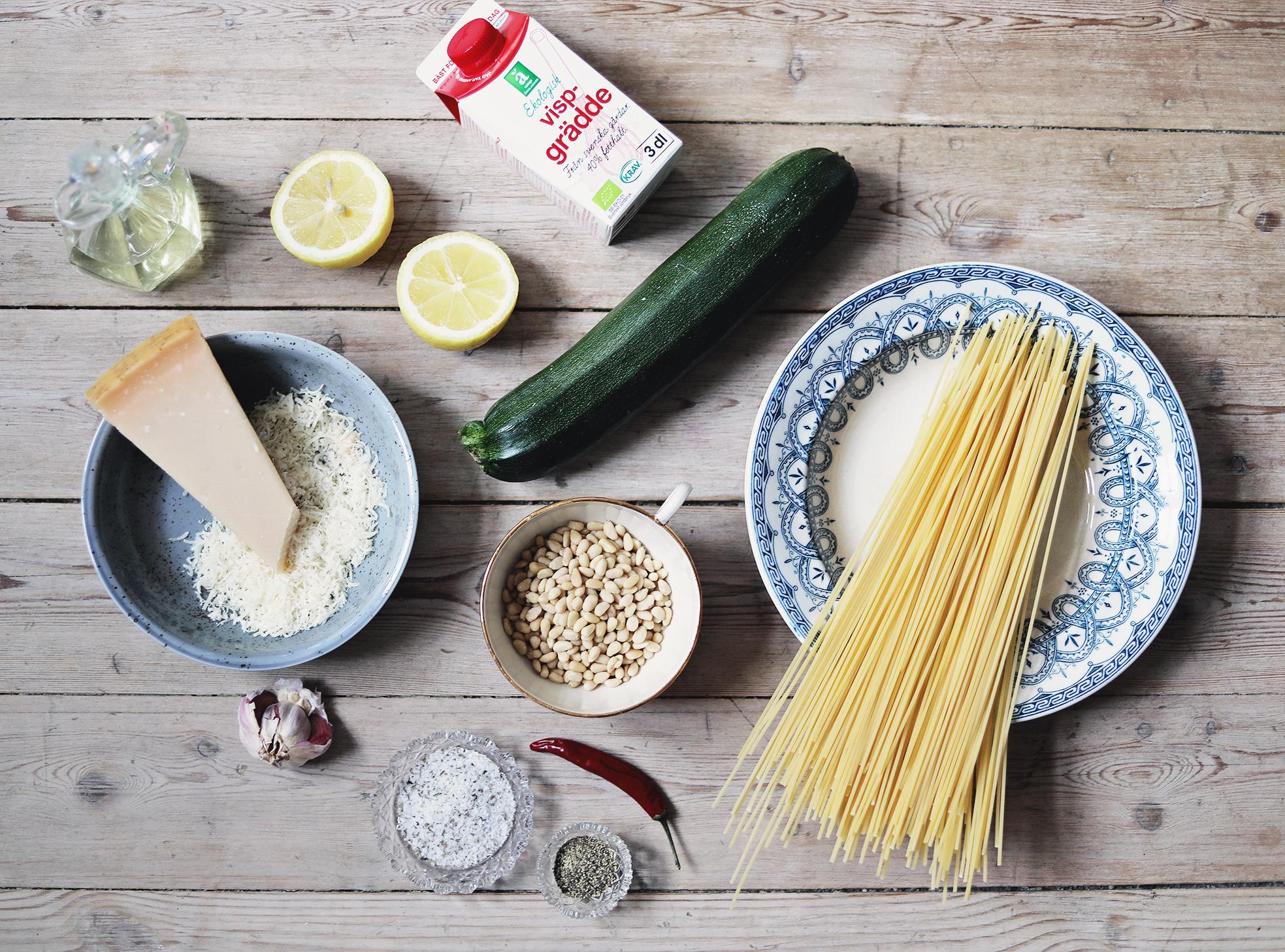 vegetariskt recept pasta enkelt middag