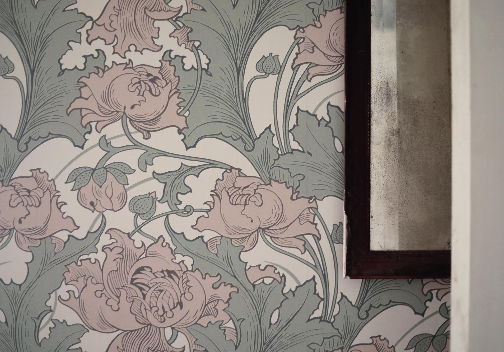 tapet tapeter wallpaper Boråstapeter Siri Anno inredning art nouveau blommor blommig