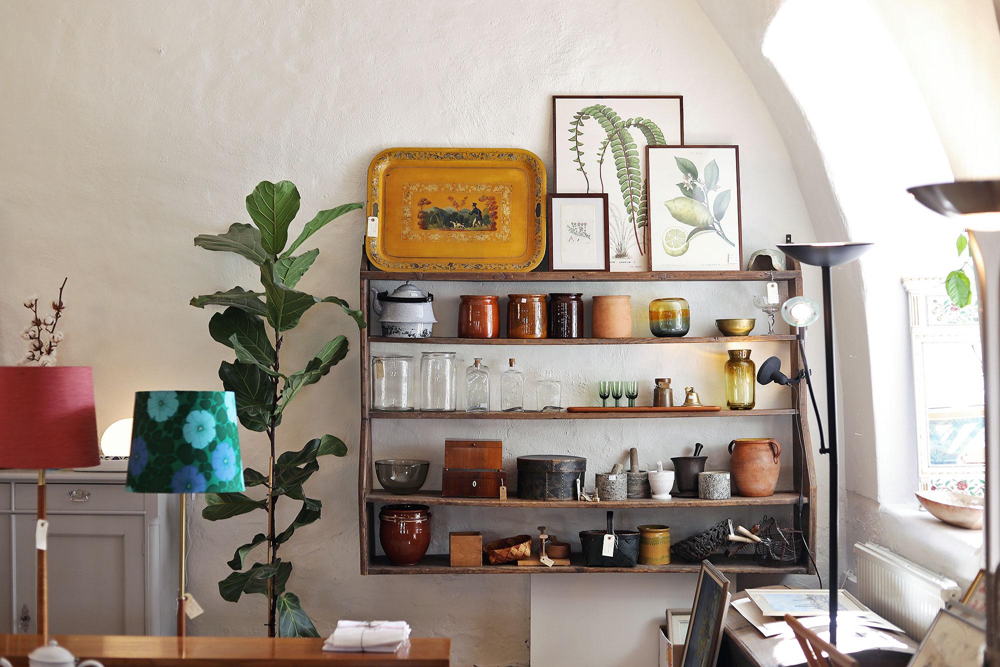 visby gotland akantus vintage inredning tavlor