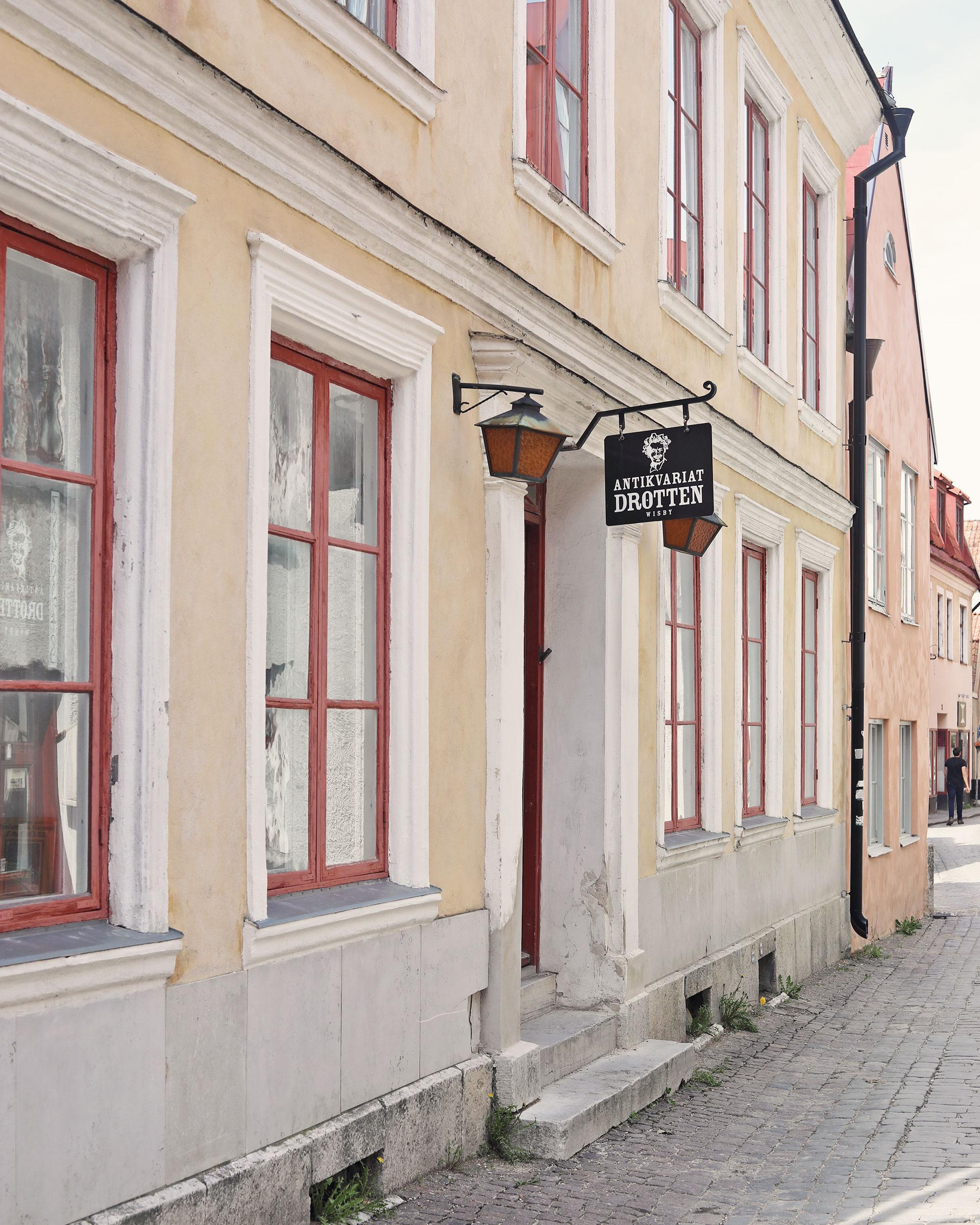 visby gotland hus antikvariat drotten