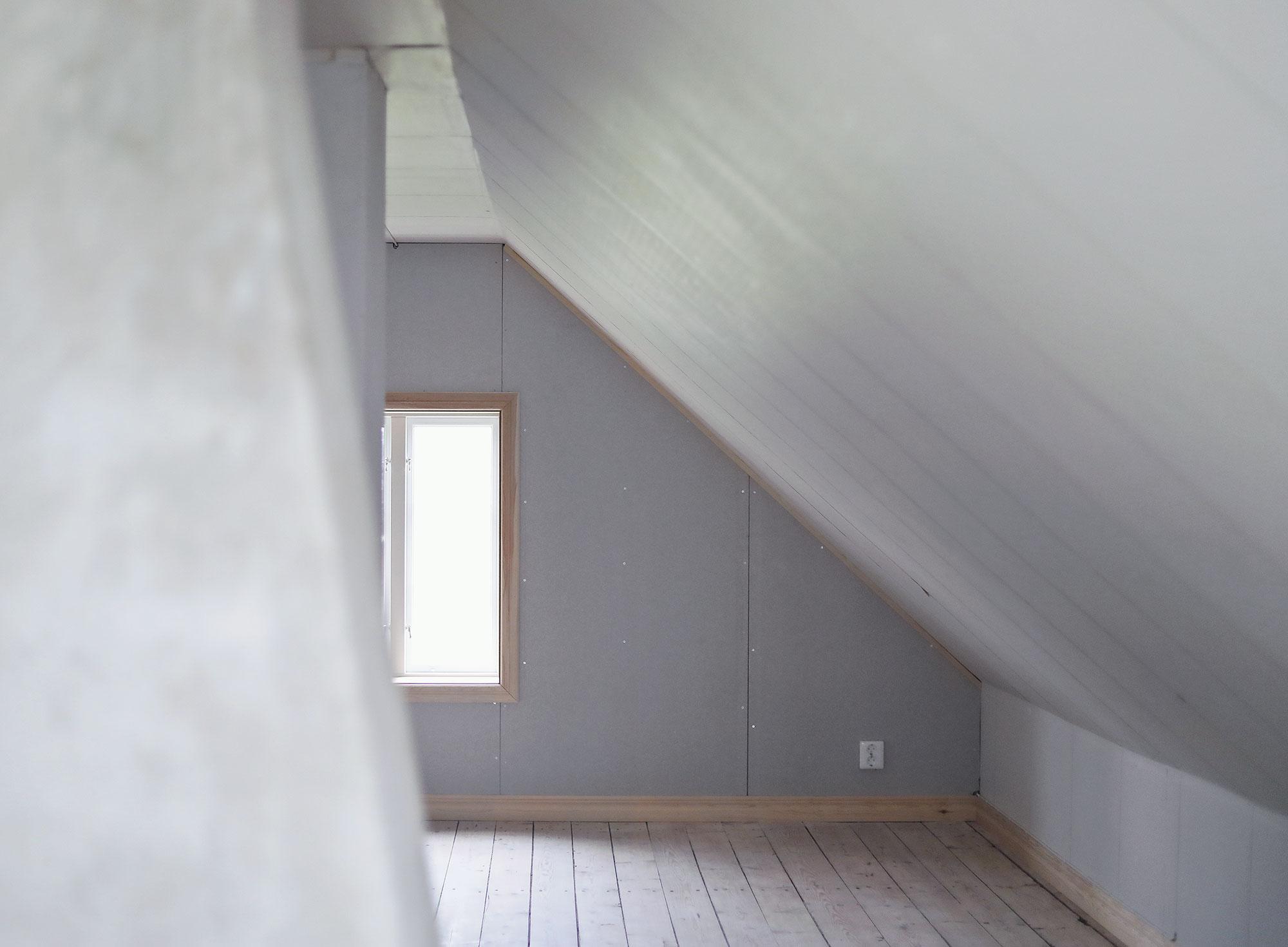 torp gotland råvind övervåning sovrum