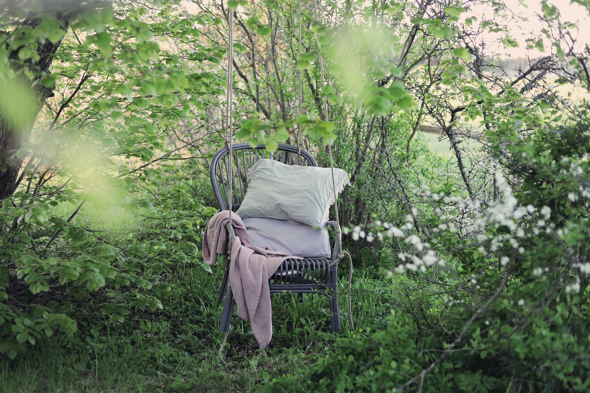 gunga stol DIY trädgård barn sommar