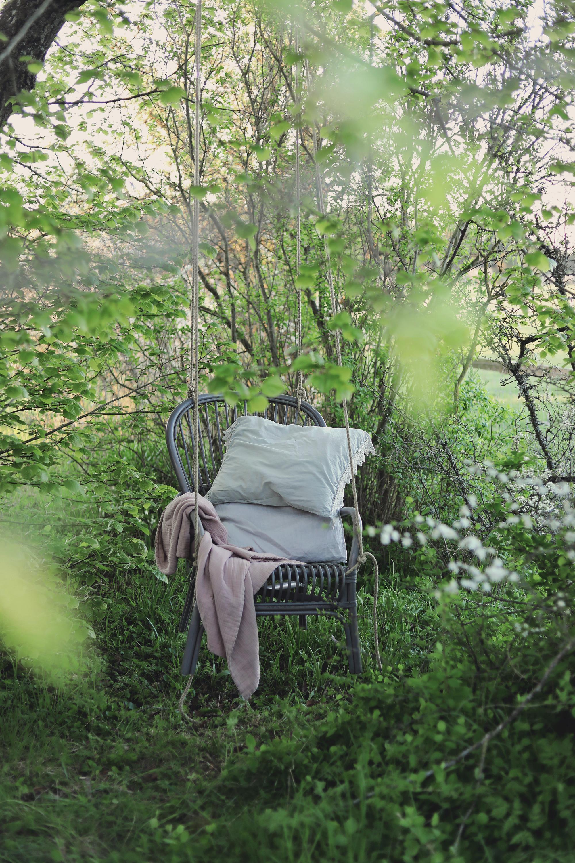 gunga stol DIY trädgård upphängning hänga upp torp
