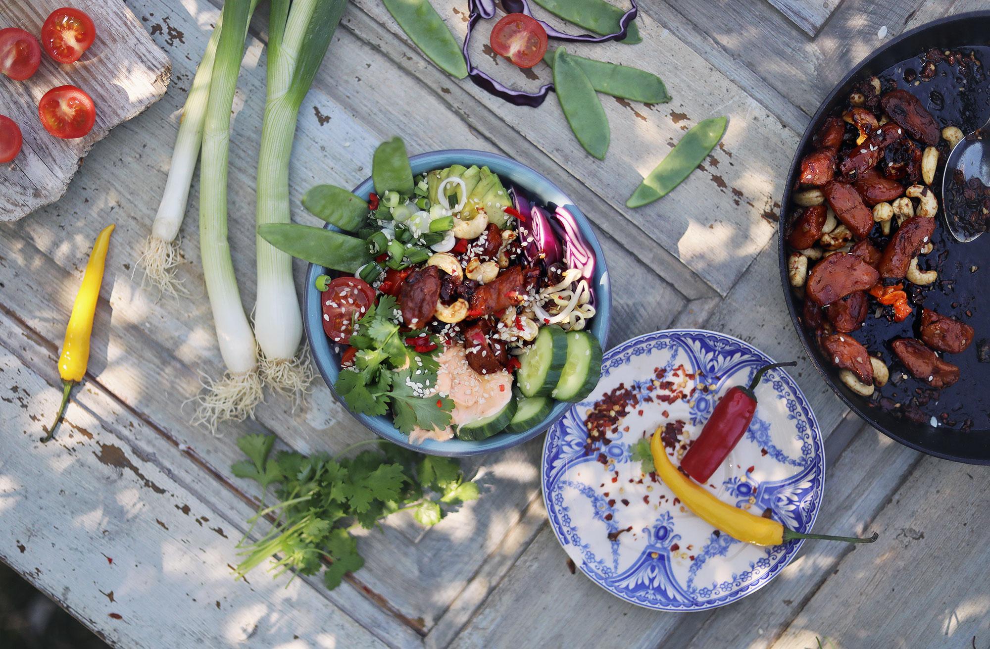 vegetariskt recept mifu valio lättlagat poke bowl hawaii mat