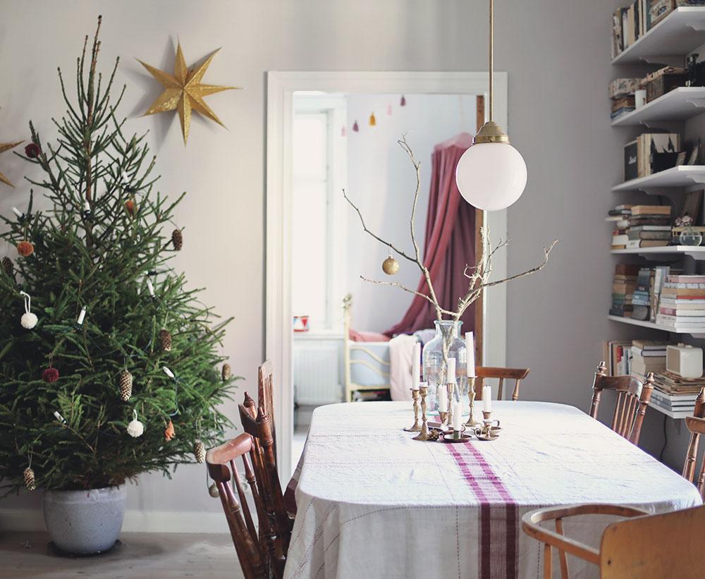 jul vintage hållbarhet hållbar miljö duk julgran