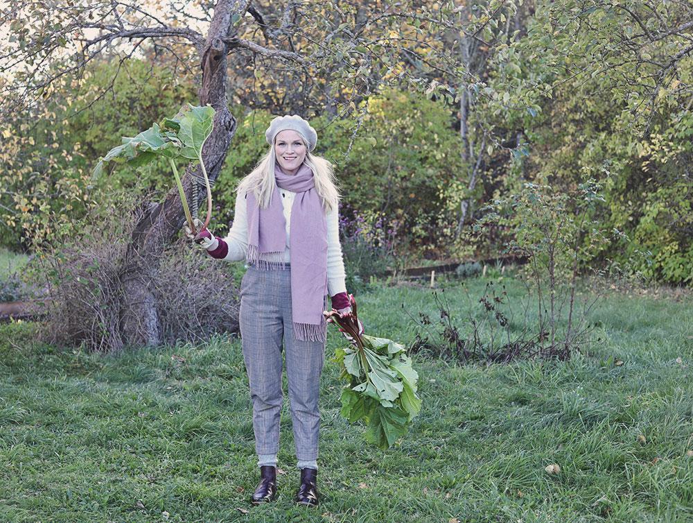 torp trädgård rabarber