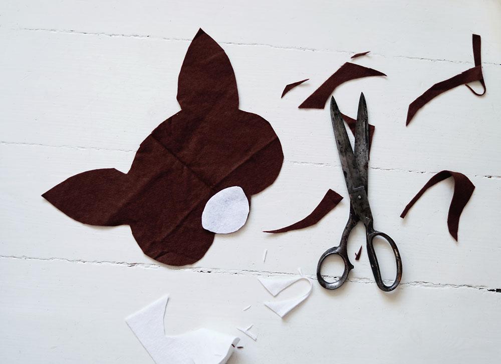 DIY djurmask bambi leksak mask barn leksak leksaker filttyg