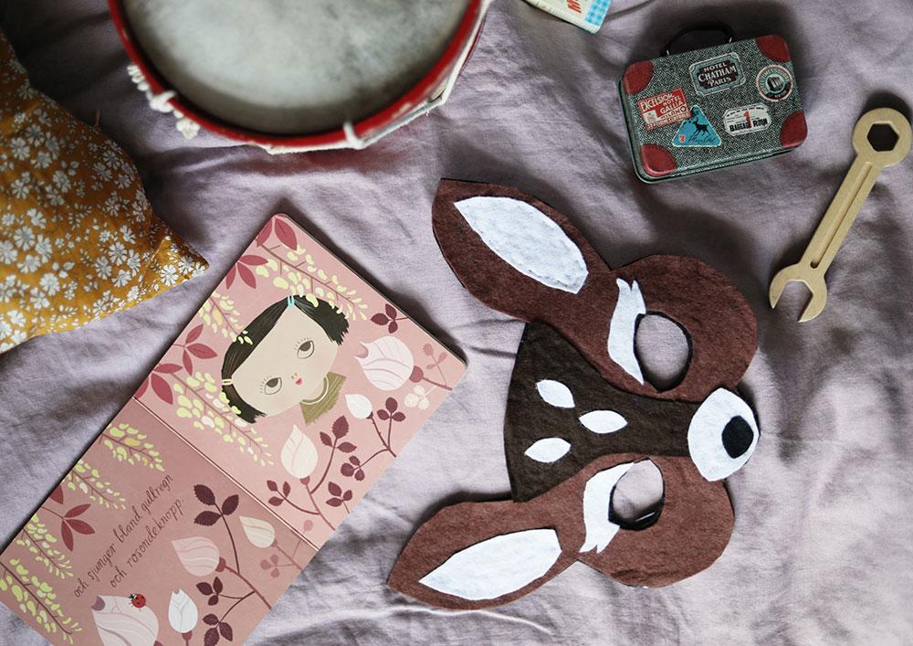 DIY djurmask bambi leksak mask barn leksak leksaker