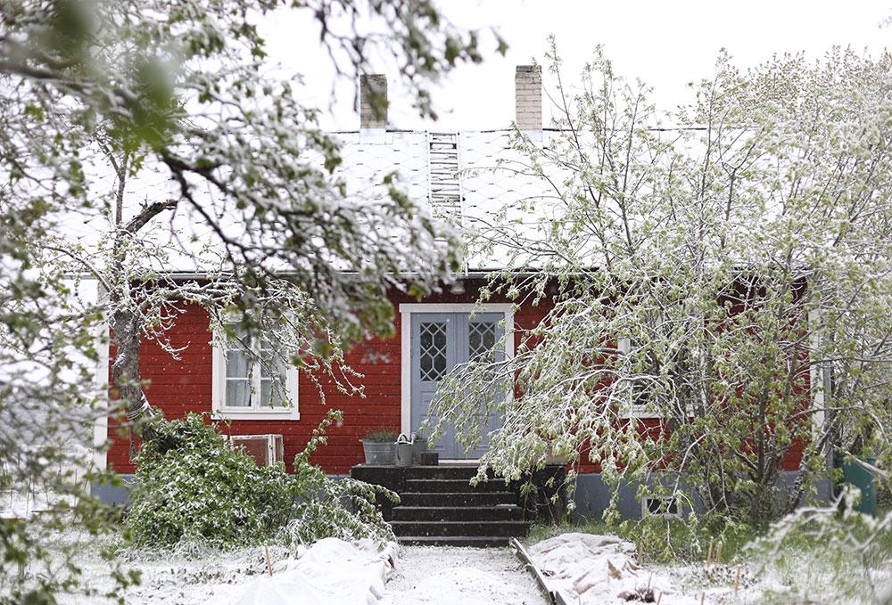 torp Gotland vinter snö