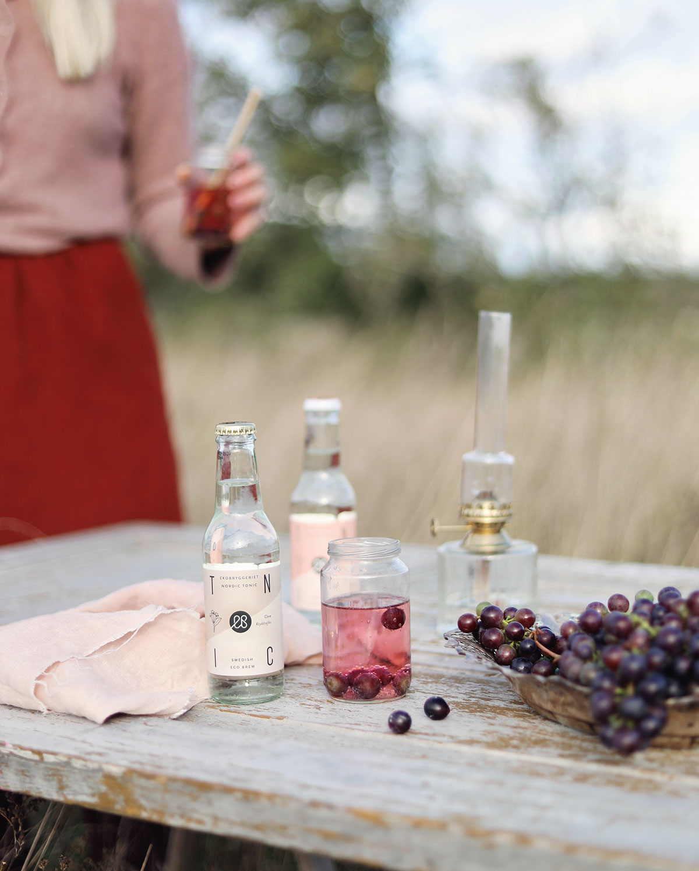 ekobryggeriet drinkar drink vindruvor Gotland soda September rosa
