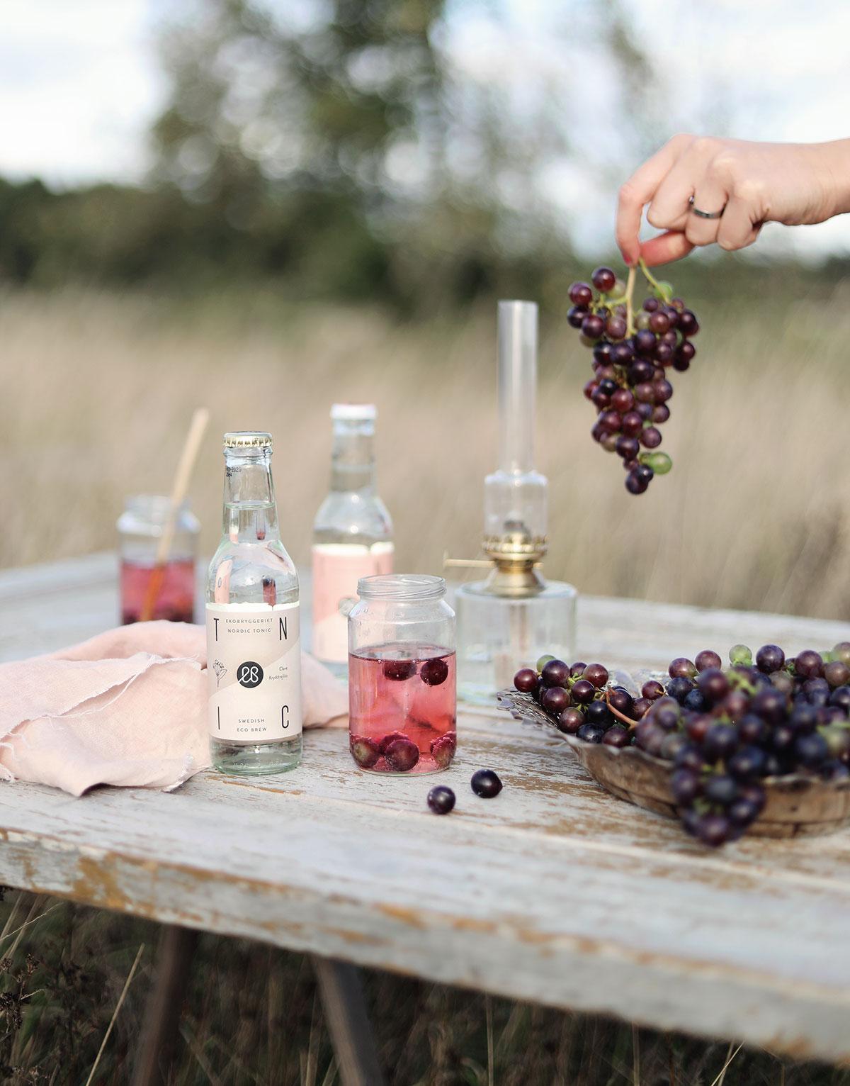 ekobryggeriet drinkar drink vindruvor Gotland soda
